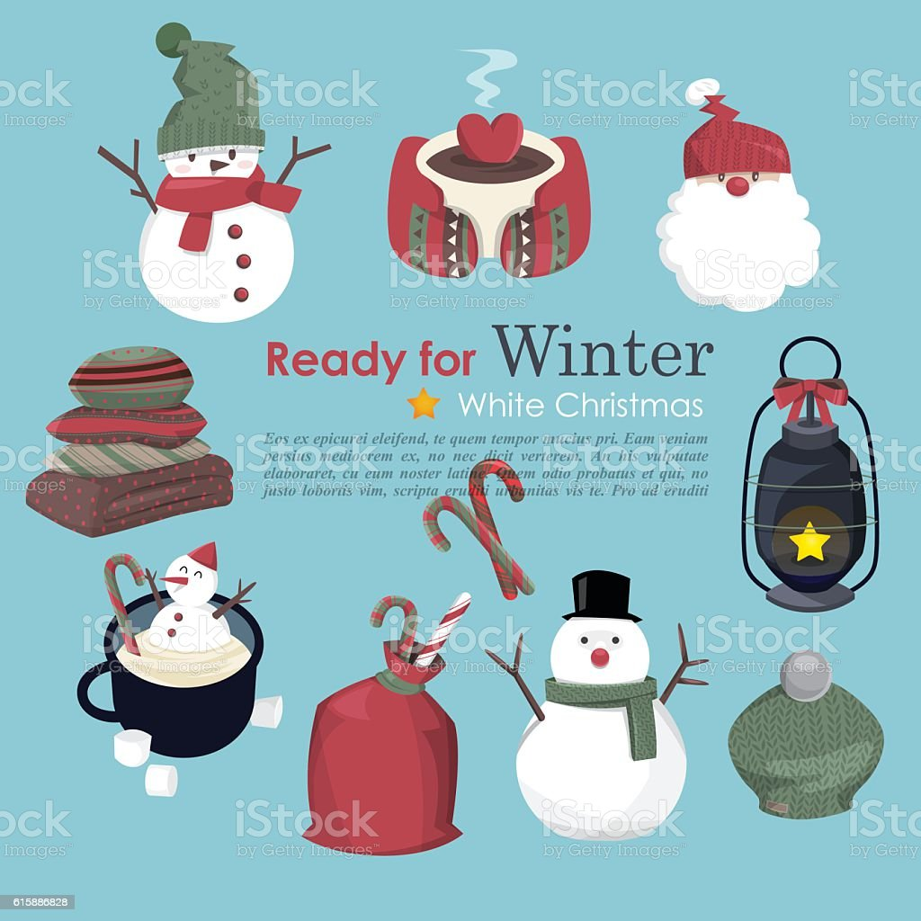 warm blanket clipart. collection of christmas and winter b vector art illustration warm blanket clipart