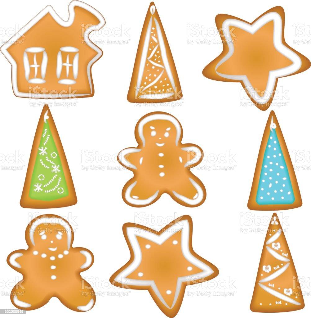 Weihnachtsgebäck Clipart.Sammlung Von Weihnachtsgebäck Hausgemachter Lebkuchen Mit Würze