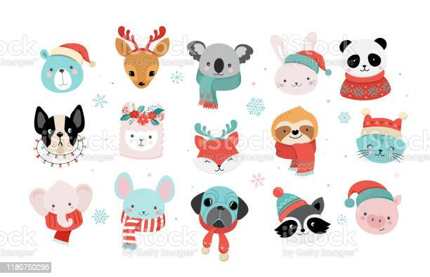 Collection of christmas cute animals merry christmas illustrations of vector id1180750295?b=1&k=6&m=1180750295&s=612x612&h=akjxhecmlxhwownkslf7ncsimxo4eunjueuo4sh921q=