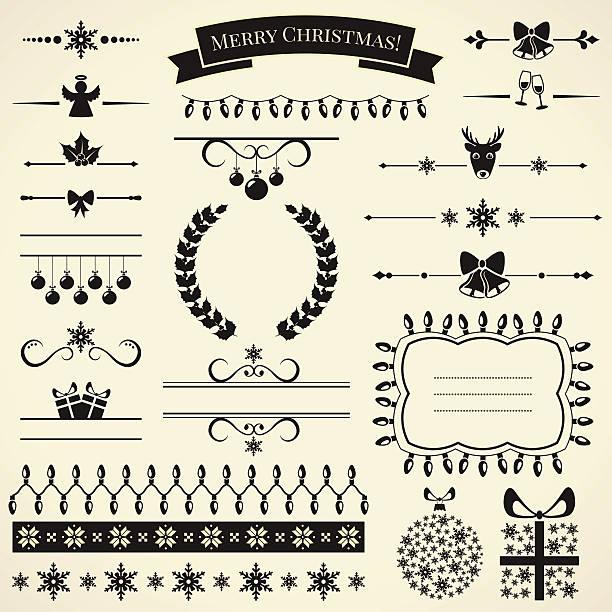 Colección de elementos de diseño de Navidad.  Ilustración vectorial. - ilustración de arte vectorial