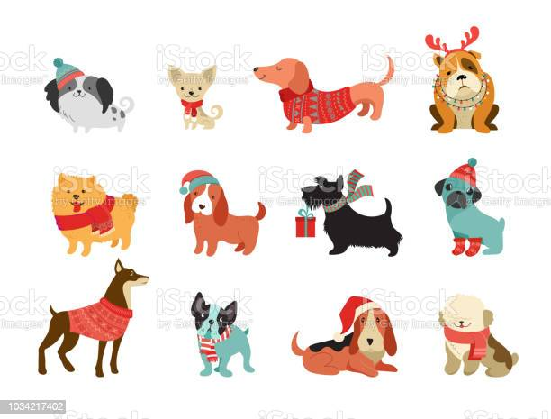 Collection of christmas dogs merry christmas illustrations of cute vector id1034217402?b=1&k=6&m=1034217402&s=612x612&h=mrtgesgmlv5bvtlpqxsl ordbfbtm5zmjdte3cvgqn4=