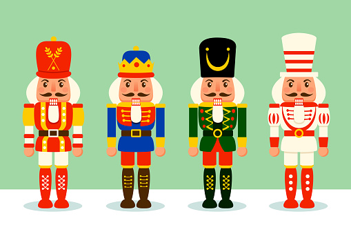 Collection of Christmas Nutcracker toy soldier.