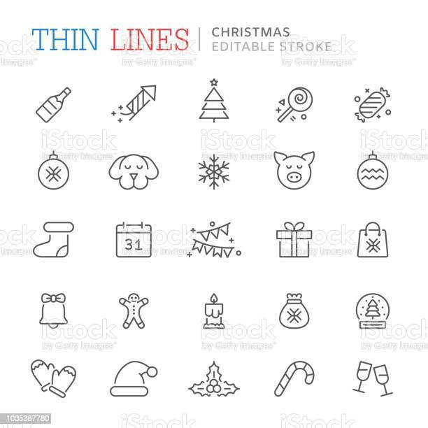 Collection of christmas related line icons editable stroke vector id1035387780?b=1&k=6&m=1035387780&s=612x612&h=mc4o3rslkwfh81oixklzv3l2haby2cdhbjhmi djd9g=