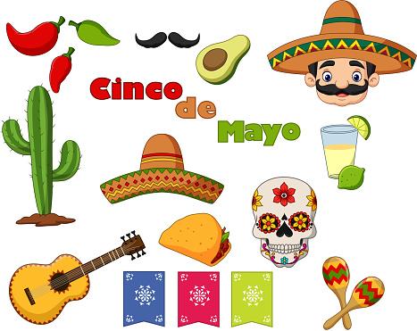 Collection of Cinco de Mayo design elements