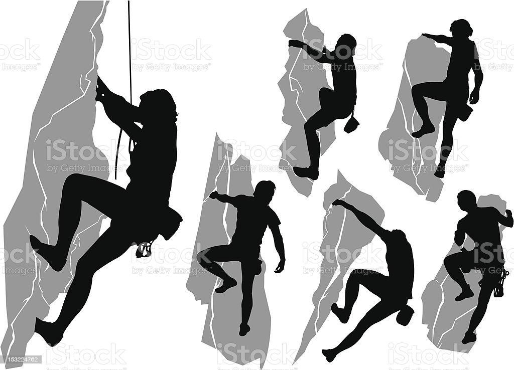 Collezione di scalatori - illustrazione arte vettoriale