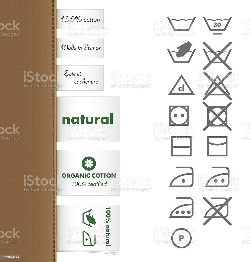 Collection of clothing  and Laundry labels vector art illustration