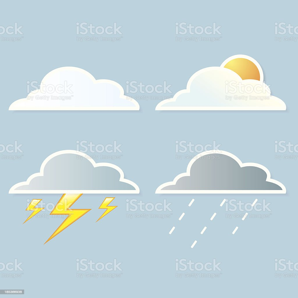 collection of clouds, Weather icon for design. royalty-free collection of clouds weather icon for design stock vector art & more images of beauty in nature