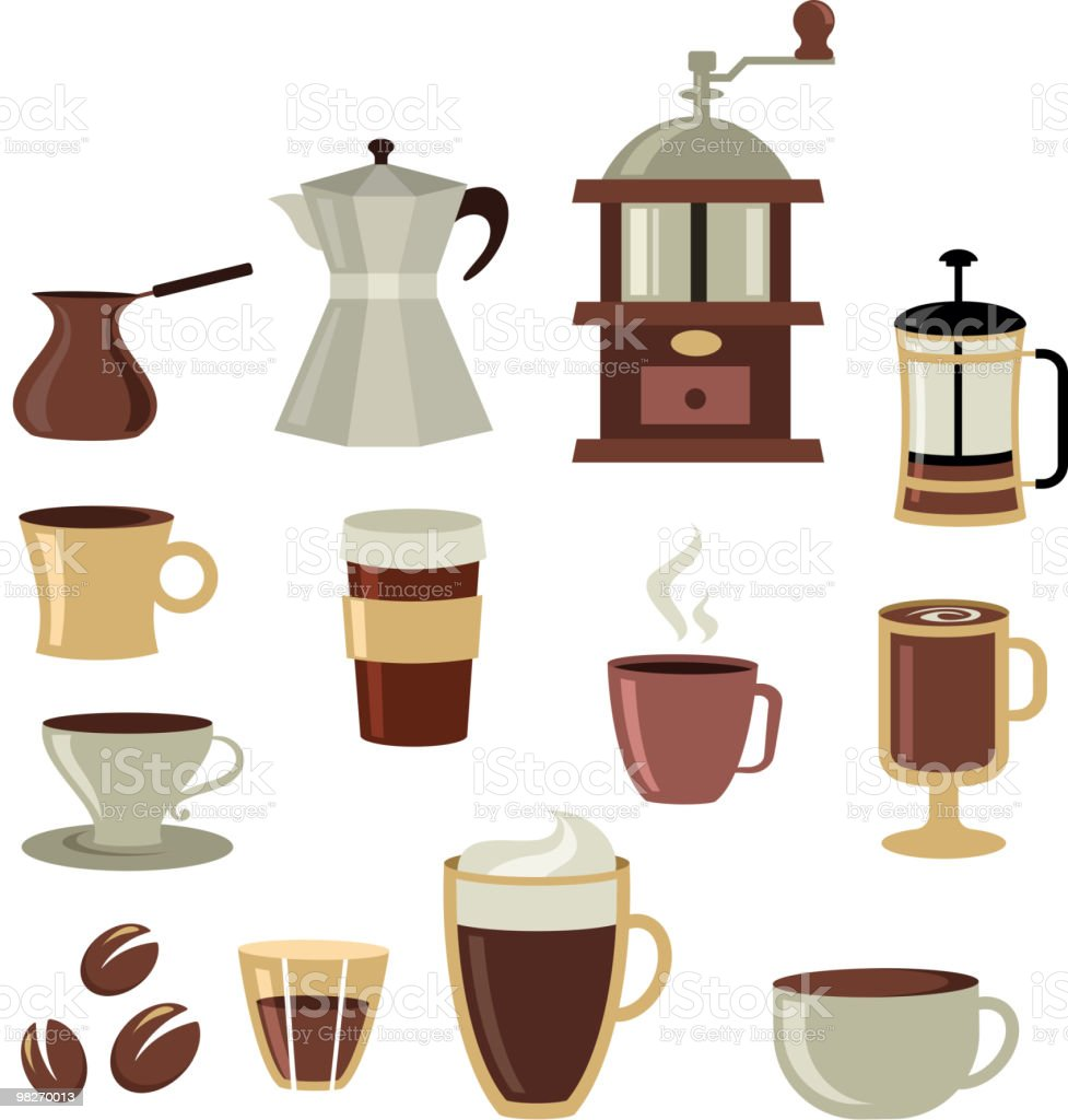 collection of coffee icons royalty-free collection of coffee icons stock vector art & more images of black coffee