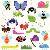 Collection of Cute and Colorful Vector Insects