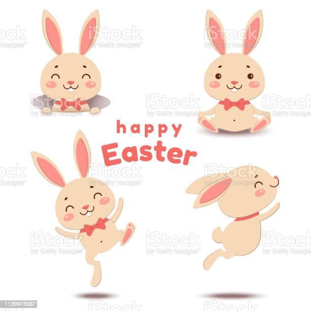 Collection of cute cartoon easter bunnies vector illustration vector id1139973067?b=1&k=6&m=1139973067&s=612x612&h=dvclnelilknhcgff1h6hnwkqpyim8rukbroxzsubhmm=