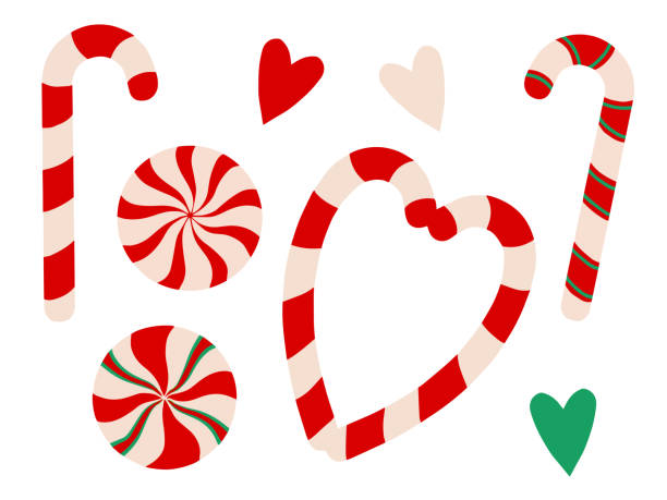 Candy Cane Heart Illustrations, Royalty-Free Vector ...