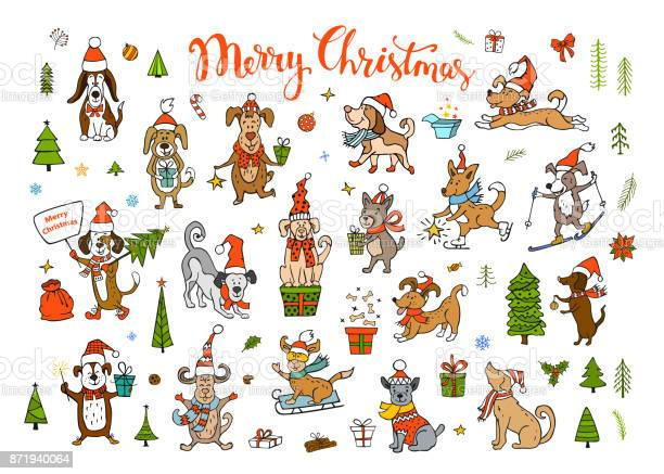 Collection of cute funny christmas and happy new year 2018 greeting vector id871940064?b=1&k=6&m=871940064&s=612x612&h=bjb6e5gl vpffckw371jt19kdon 0 jo9a3suvvhhq8=