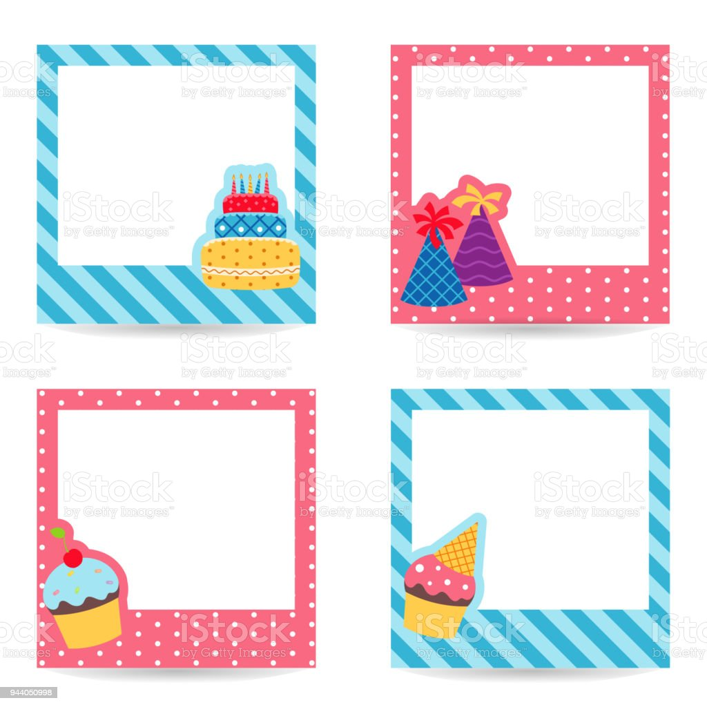 Collection Of Cute Text Frames Stock Vector Art & More Images of ...