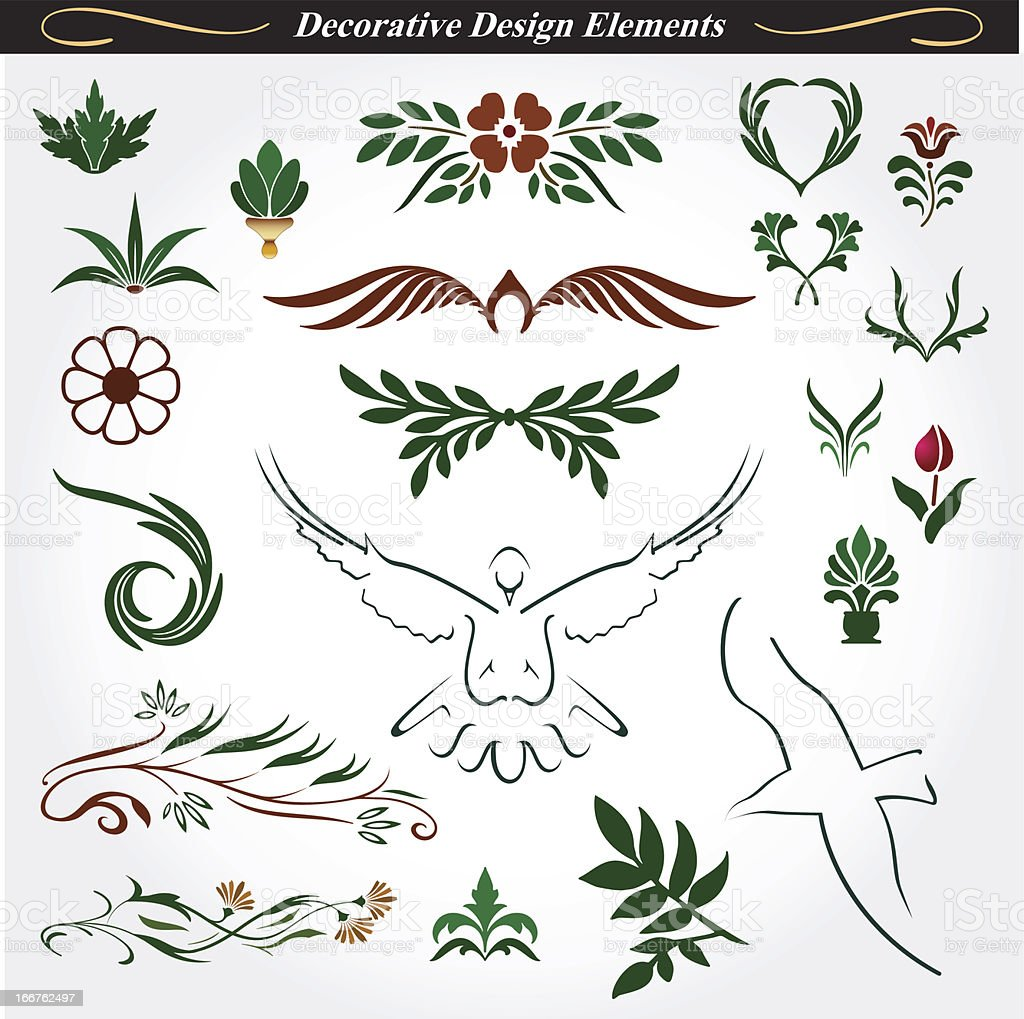 Collection of decorative design elements 15 royalty-free stock vector art