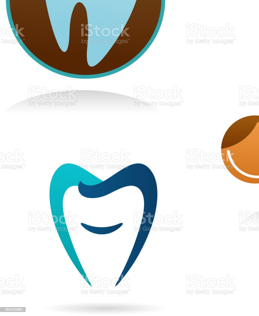 collection of dental clinic icons vector art illustration