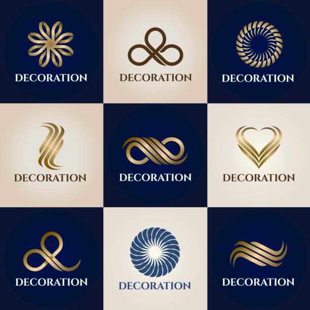 illustrations, cliparts, dessins animés et icônes de une collection d'éléments de design pour la décoration intérieure et à la maison - logo peintre en batiment