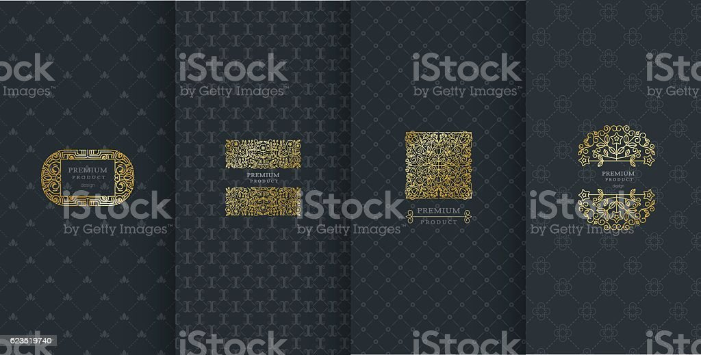 Collection of design elements,labels,icon,frames, for packaging,