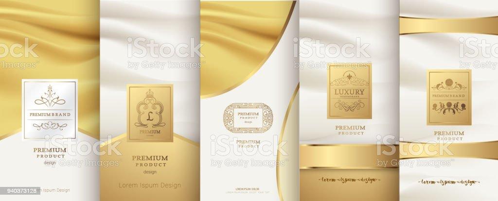 Collection Of Design Elementslabelsiconframes For Packagingdesign