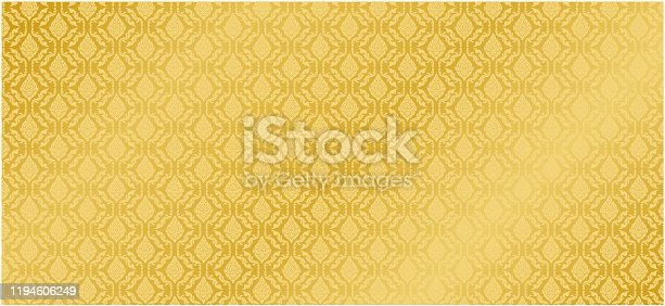istock Collection of design Thai Pattern gold background vector 1194606249
