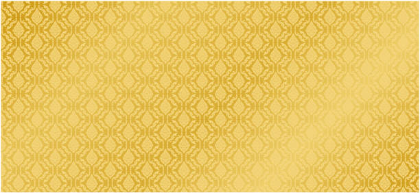 collection of design thai pattern gold background vector - таиланд stock illustrations