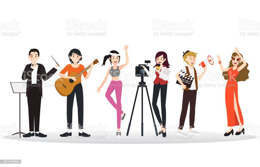 Sammlung von verschiedenen Karriere Berufe Charakter – Vektorgrafik