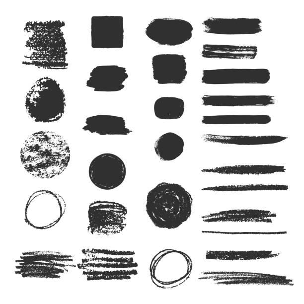 bildbanksillustrationer, clip art samt tecknat material och ikoner med uppsamling av olika kol luckor. penna klotter textur. ojämna kanter bakgrund. - ärr