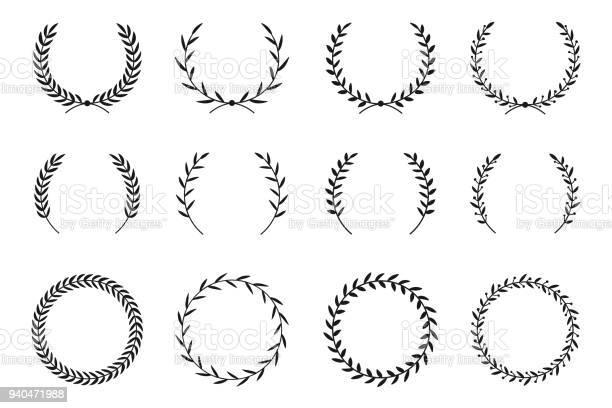Collection of different laurel wreaths hand drawn vector round frames vector id940471988?b=1&k=6&m=940471988&s=612x612&h=72xluob7rv379dzzifamxji8odcjp5 a tn14sutzae=