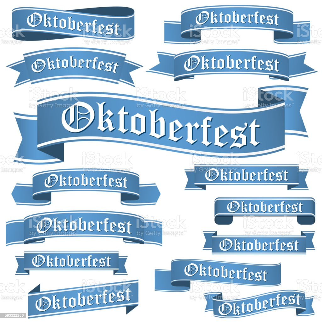 collection of different Oktoberfest banners vector art illustration