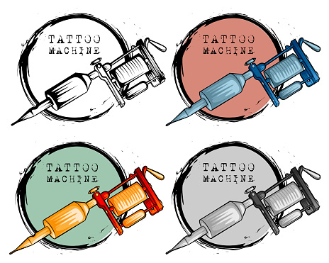 Collection of different style tattoo machine