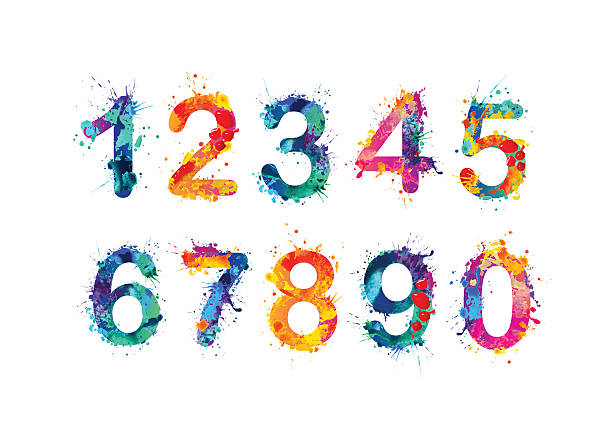 Collection of digits. Numbers, figures vector art illustration