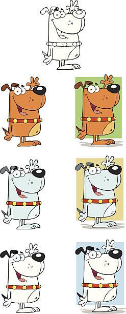 컬렉션 멍멍이 - 2 - 강아지 실루엣 stock illustrations