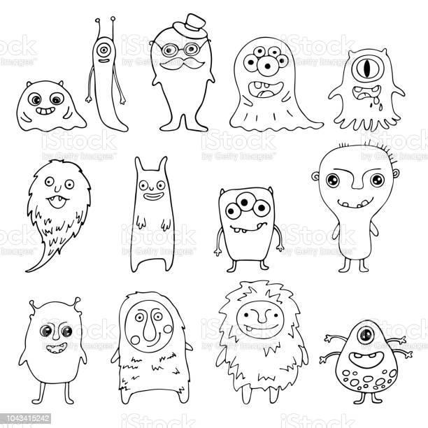 Collection of doodle monsters vector id1043415242?b=1&k=6&m=1043415242&s=612x612&h=ciz dqmcbonrgbghbbcoszj4fe4rans  bqjfjcosp0=