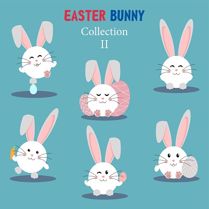 Collection of Easter bunny and egg.