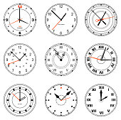Collection of editable clock icons