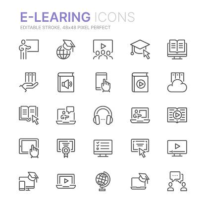 digital education stock illustrations