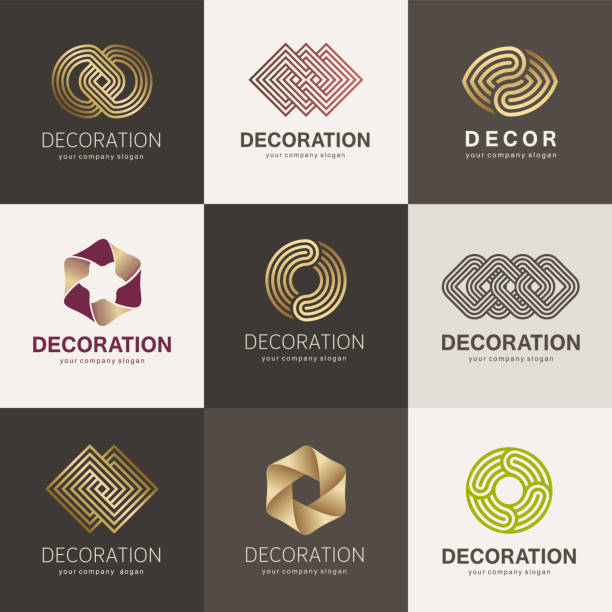 A collection of element design for interior, decor and home decoration A collection of element design for interior, decor and home decoration interior designer stock illustrations