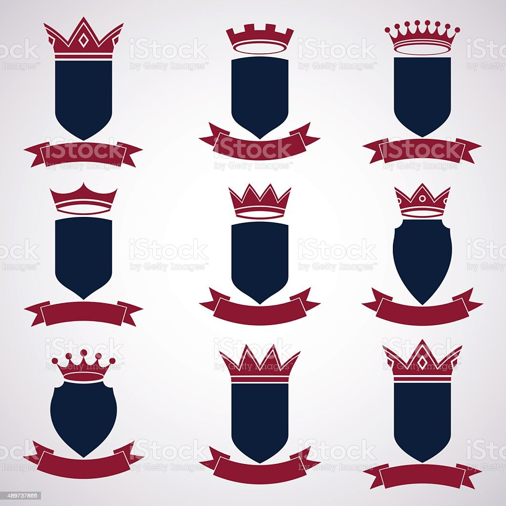 Collection Of Empire Design Elements Heraldic Royal Crown