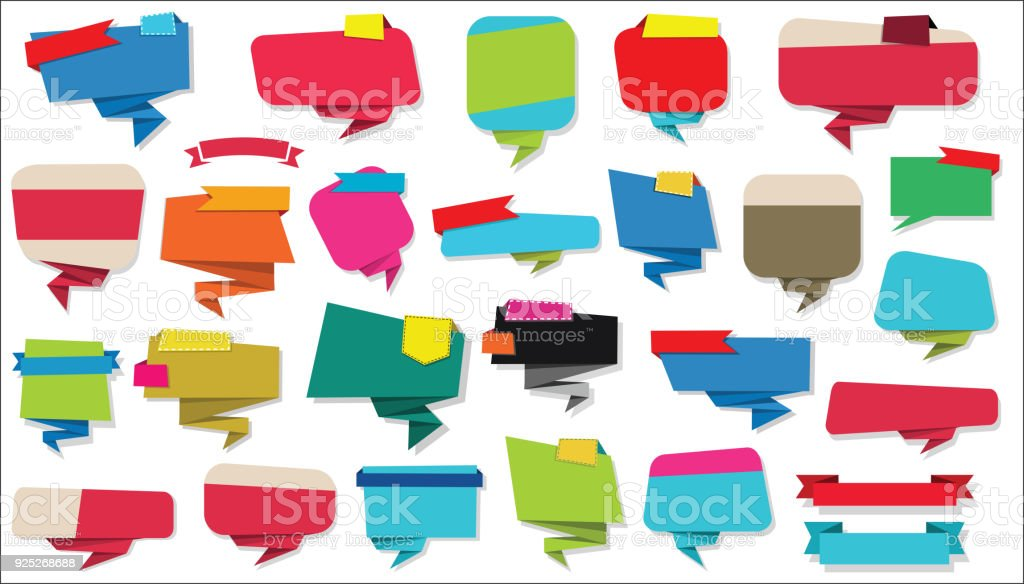 Collection Of Empty Ribbons Stickers And Tags Template Stock Vector ...