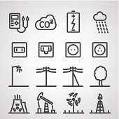Collection of energy and resource icons