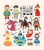 A collection of fairy tale related icons