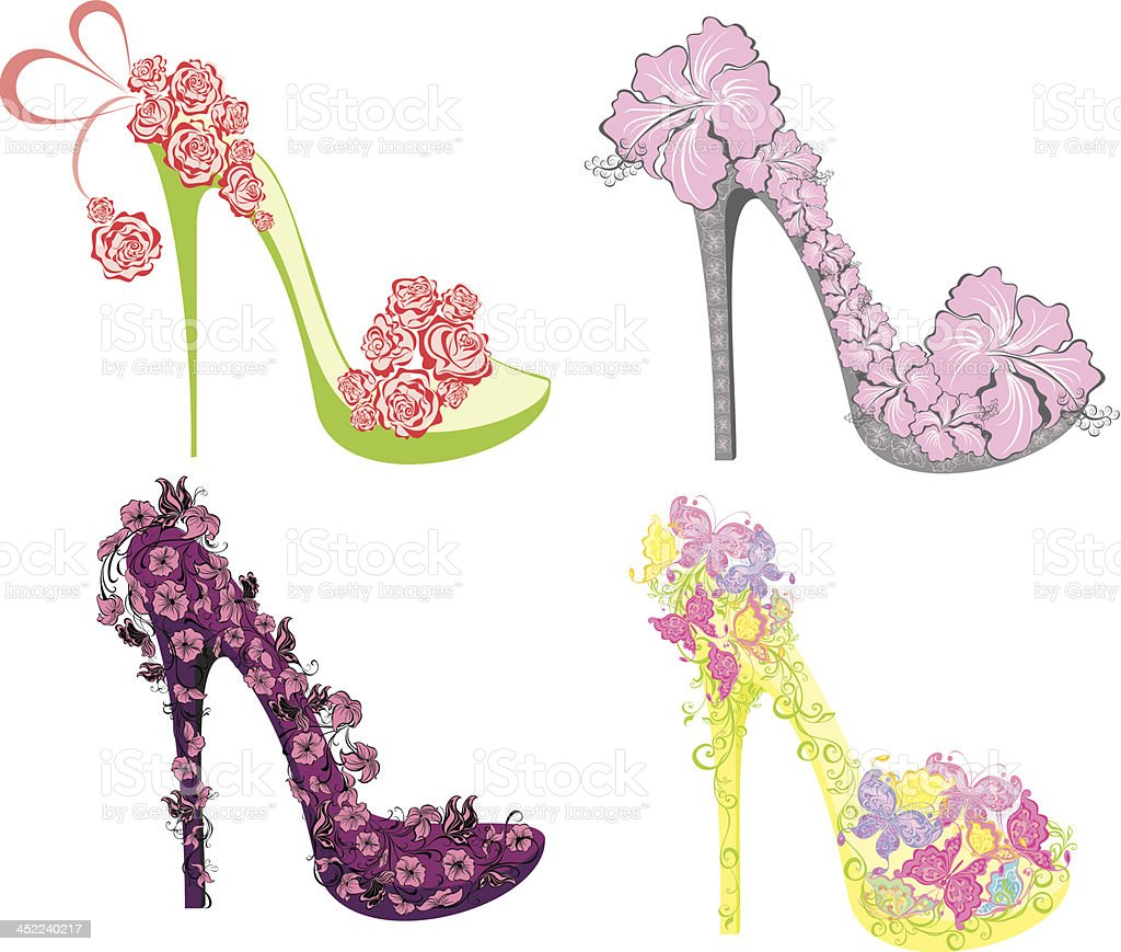Collection Of Fashion High Heels Shoes Stock Vector Art More