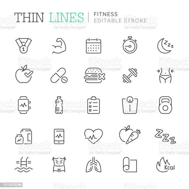 Collection of fitness related line icons editable stroke vector id1010028398?b=1&k=6&m=1010028398&s=612x612&h=grzrrjcjyhn crexxkrnottaggiqn57sx6giqjfsc6q=