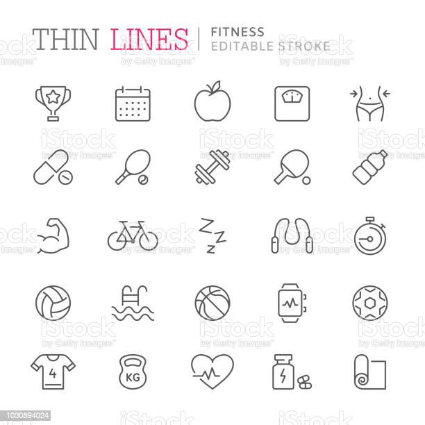 Collection of fitness related line icons editable stroke vector id1030894024?b=1&k=6&m=1030894024&s=612x612&h=vc3gst9he85zgq99lnsr0tlvjnzkz4l3ud6ob7kciry=