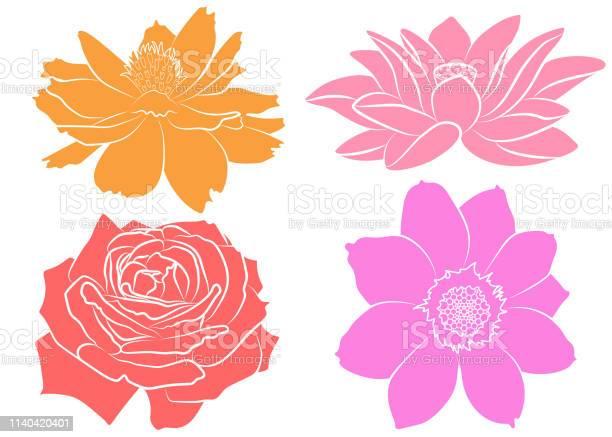Collection of flowers silhouettes vector id1140420401?b=1&k=6&m=1140420401&s=612x612&h=apch2sfsuf5jndqnoy4jsknvlike1jxomtxzktixrka=