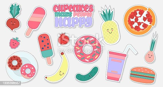 istock Collection of food sticker 1335398357