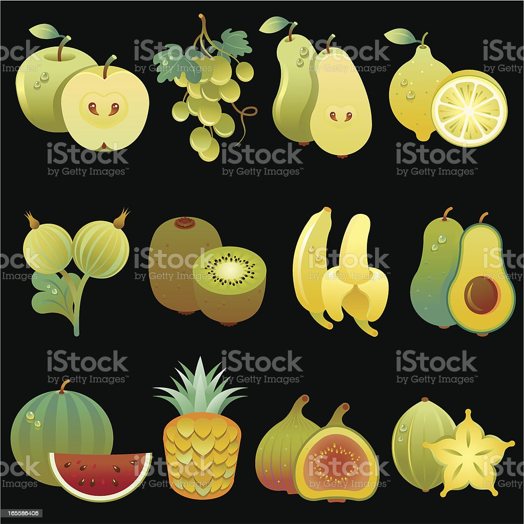 Collection of fruits 3 royalty-free stock vector art