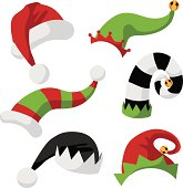 collection of fun holiday hats