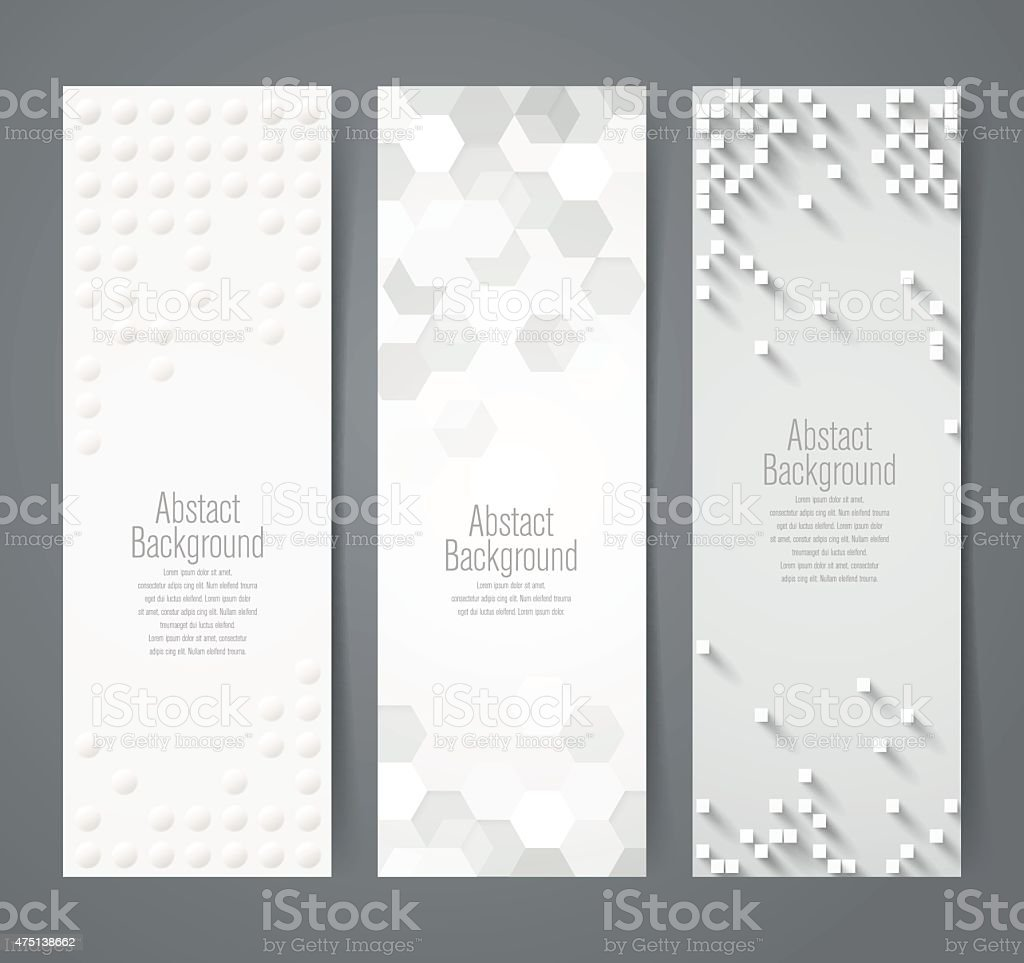 Collection of geometric banner. vector art illustration