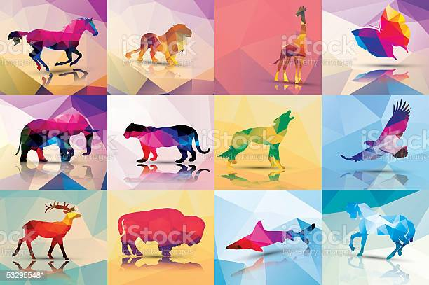 Collection of geometric polygon animals vector illustration vector id532955481?b=1&k=6&m=532955481&s=612x612&h=svo jrfv czbnwarhnwrgz0qp a4opgus9 stjfkb4w=