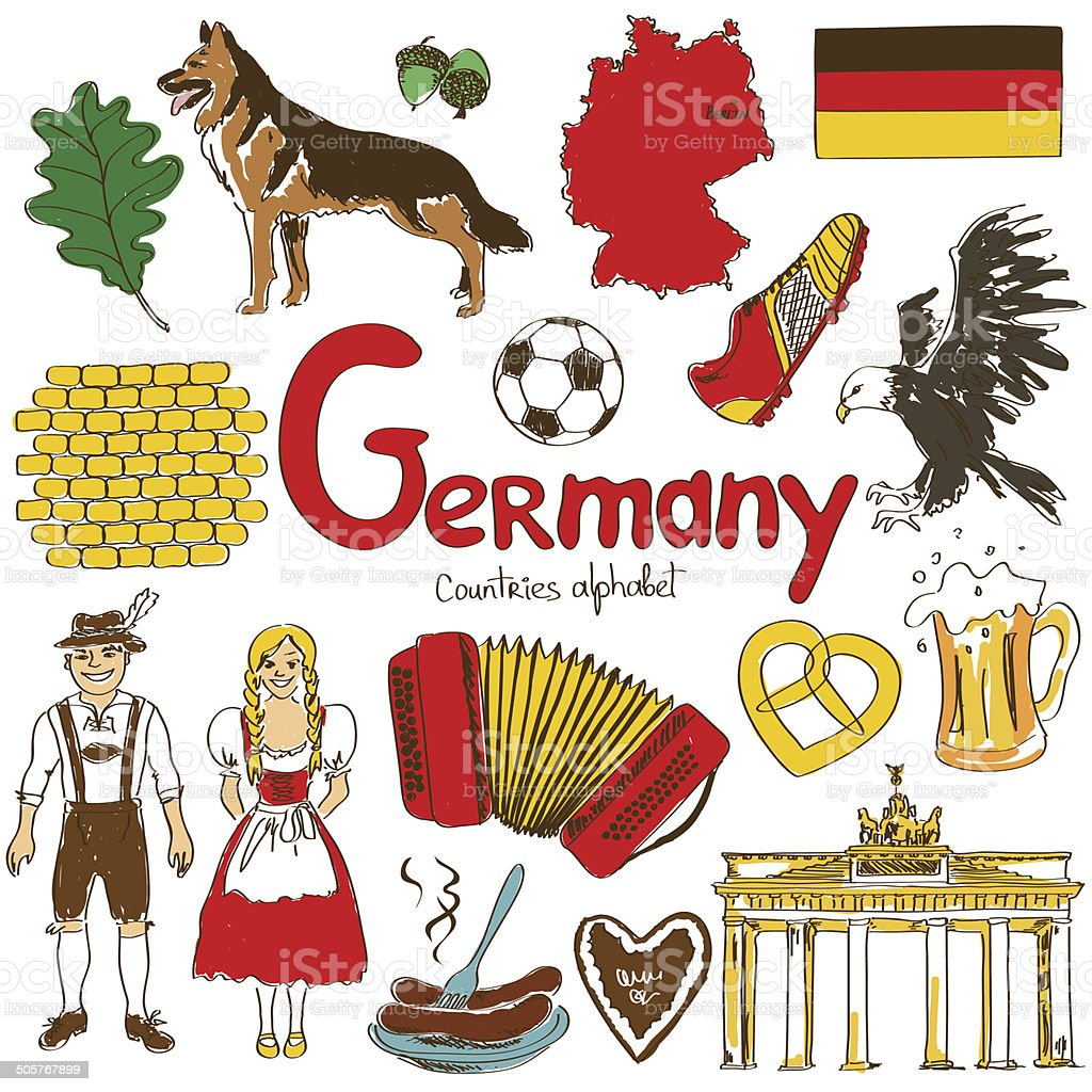 Sammlung von Deutschland Symbole – Vektorgrafik